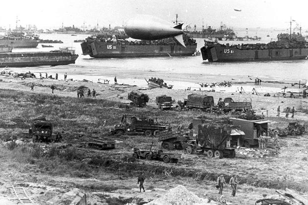 Normandy Beachhead, June 1944. (U.S. Army photo)