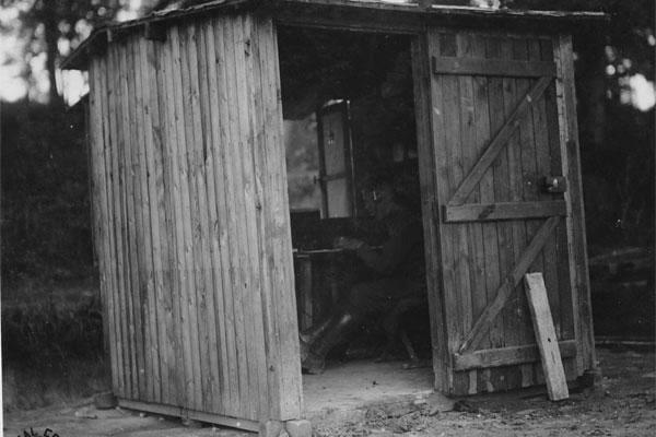 As shown by this exterior photograph of Field Intercept Station Number 1, many of the stations were housed in what was nothing more than a shack. (Photo: National Archives)