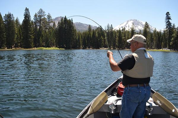 veteran fishing at Lassen Park