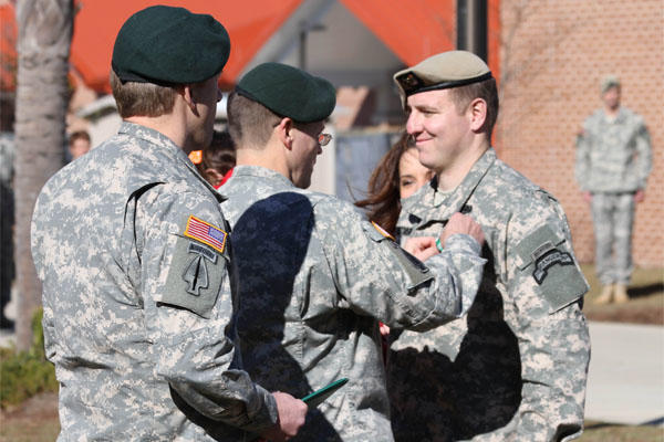 Army Ranger receives combat medic award