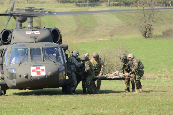 10th Special Forces Group medivac with Romanians