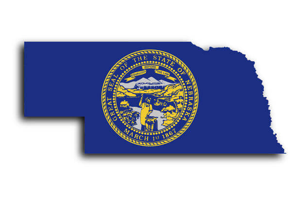 Nebraska Map With State Seal