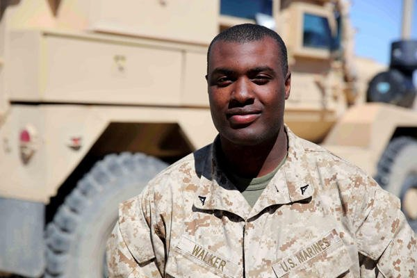 Lance Cpl. Kalib Walker, Marine who became a father while deployed.