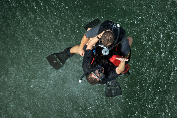 Helicopter Rescue Swimmer Training
