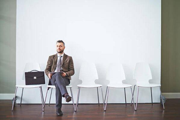 Man on job interview