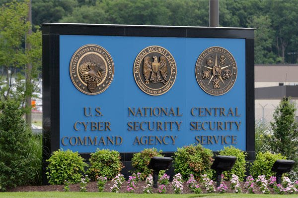 In this June 6, 2013 file photo, a sign stands outside the National Security Agency (NSA) campus in Fort Meade, Md. (AP Photo/Patrick Semansky)