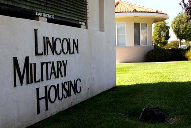 Lincoln Military Housing sign.