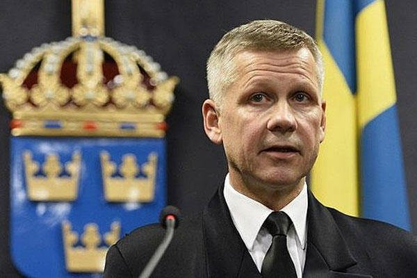 "On Oct. 17, 2014, Swedish Navy commodore Jonas Wikstrom said the Swedish military had deployed planes and ships in response to ""foreign underwater activity"" in the Stockholm Archipelago. Anders Wiklund/AP"