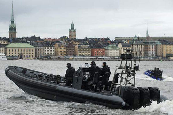The Swedish military is searching for evidence of a Russian submarine intrusion in its waters. File photo