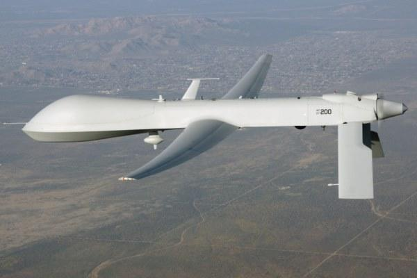 An MQ-9 Predator drone flies in this undated file photo from drone-maker General Atomics.