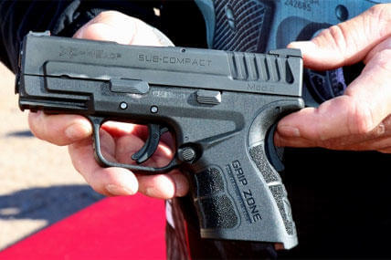 Springfield Armory demonstrated its newest compact .45 caliber pistol at SHOT Show.