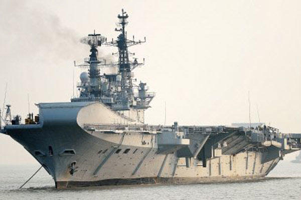 India navy's INS Viraat, which is due to retire next year. (India navy photo)