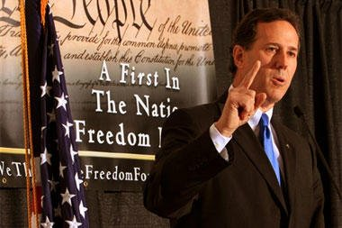 Santorum speaks at the We the People confernace.