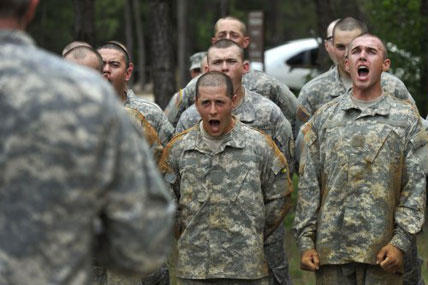 Army recruits