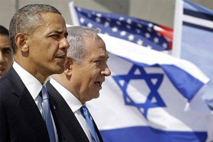 President Barack Obama and Israeli Prime Minister Benjamin Netanyahu tour the Iron Dome Battery defense system, at Ben Gurion International Airport in Tel Aviv, Israel, Wednesday, March 20, 2013.