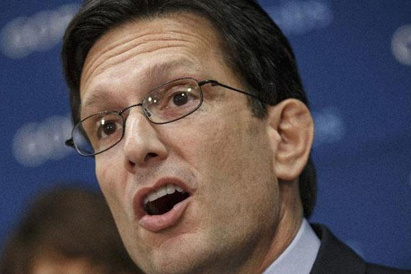 House Majority Leader Eric Cantor of Va. speaking on Capitol Hill in Washington (AP Photo/J. Scott Applewhite, File)