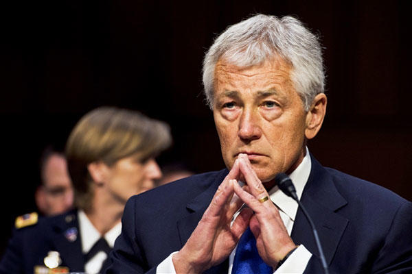 Hagel testifies at budget hearings.