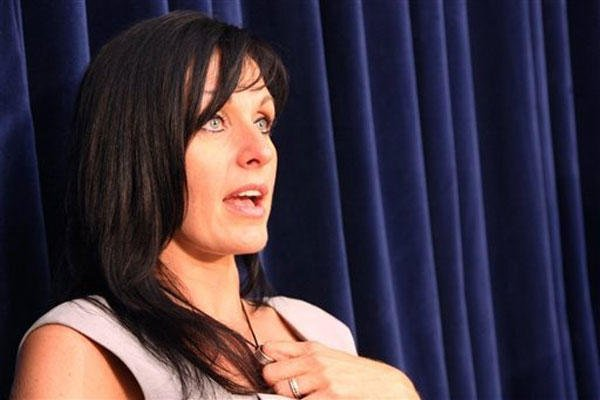In this Oct. 31, 2010, file photo, Tabitha Speer, widow of Sgt. 1st Class Chris Speer, who was killed by a hand grenade that Omar Khadr admitted throwing, speaks to reporters on the sentencing of Khadr at his military commission at Guantanamo Bay, Cuba.