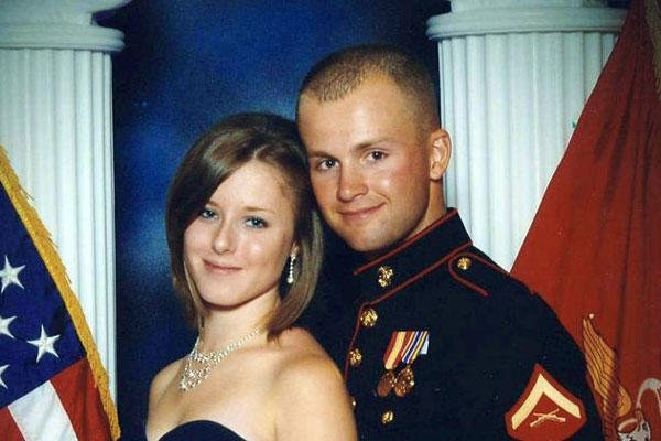 Erin Corwin, left, with her husband, Jonathan Wayne Corwin, a corporal in the U.S. Marine Corps. Erin Corwin disappeared after leaving her home on the Twentynine Palms Marine Corps base. (AP Photo/San Bernardino County Sheriff's Department, File)