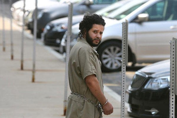 Mufid Elfgeeh is taken from his arraignment in federal court in Rochester, NY, Monday June 2, 2014. (AP Photo/Democrat & Chronicle, Shawn Dowd)