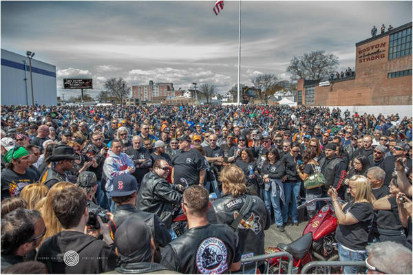 Bikers gather for the 2013 Boston's Wounded Vet Run. (Photo Courtesy of Andrew Biggio)