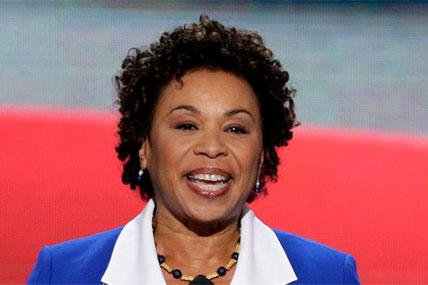 FILE - In this Sept. 4, 2012 file photo, Rep. Barbara Lee, D-Calif. speaks at the Democratic National Convention in Charlotte, N.C. Reps. (AP Photo/J. Scott Applewhite, File)