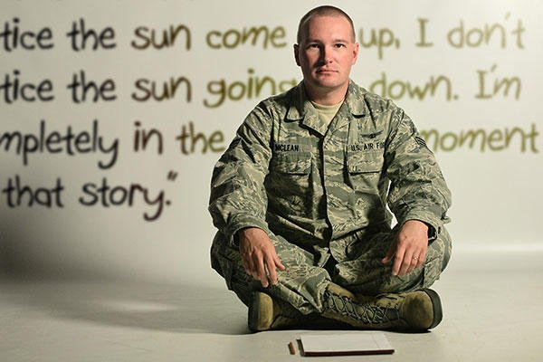 Senior Airman Brian McLean, a 11th Space Warning Squadron, Future Operations Flight staff instructor, is the main point of contact for HEO-3 training and operations. In his spare time, he writes short stories. (U.S. Air Force/Staff Sgt. Darren Scott)