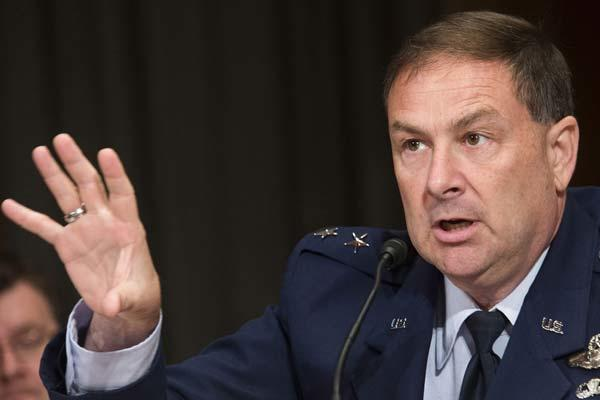 Air Force Lt. Gen. Christopher Bogdan, F-35 program executive officer, told the Senate Armed Services Committee that large, complex acquisition programs require military leadership to stay in managerial positions longer. (U.S. Air Force photo/Jim Varhegy)