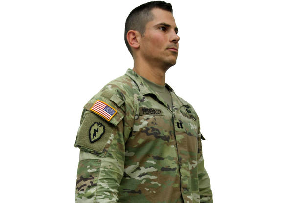 Capt. Daniel Ferenczy, assistant product manager for Extreme Weather Clothing and Footwear, modeling the Army's new Improved Hot Weather Combat Uniform. (Photo: Program Executive Office Soldier)
