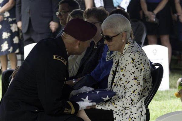 A military funeral