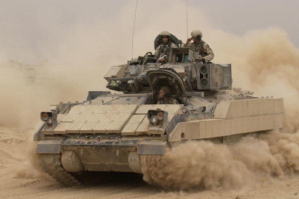 The Bradley Fighting Vehicle is one of many systems the Army bought during the Cold War. It has struggled to land modernization programs since. (Army photo)