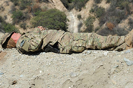 Soldier sleeps.