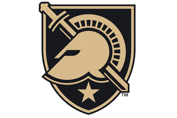 This image released by Army West Point Athletics shows its new logo, which features a shield, sword, star and helmet. The academy will now refer to its teams as Army West Point instead of just Army. Army West Point Athletics via AP