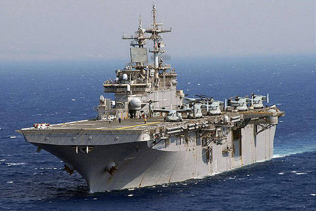 USS Wasp (LHD 1). Navy photo