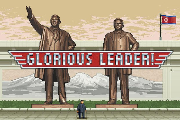 "This photo provided by Moneyhorse Games shows a scene from the video game, ""Glorious Leader."" (AP Photo/Moneyhorse Games)"