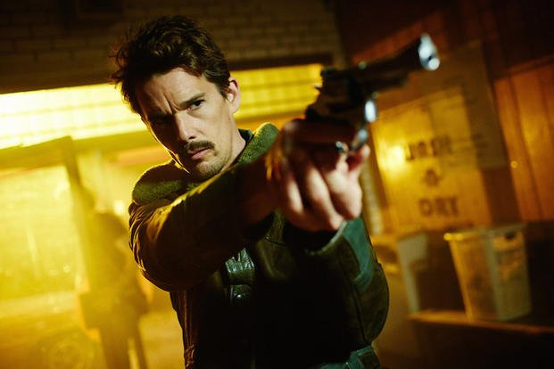 "Ethan Hawke stars in the movie ""Predestination."""