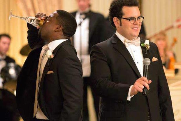"Kevin Hart and Josh Gad star in ""The Wedding Ringer."""