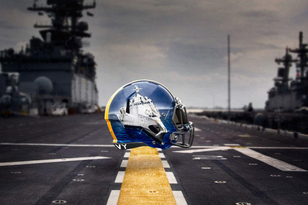 Running Back: Littoral Combat Ship – Like running backs, these fast and nimble ships can navigate through both crowded shallow and deep waters. (Image courtesy www.navysports.com)