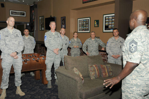 Air Force senior master sergeant promotion ceremony