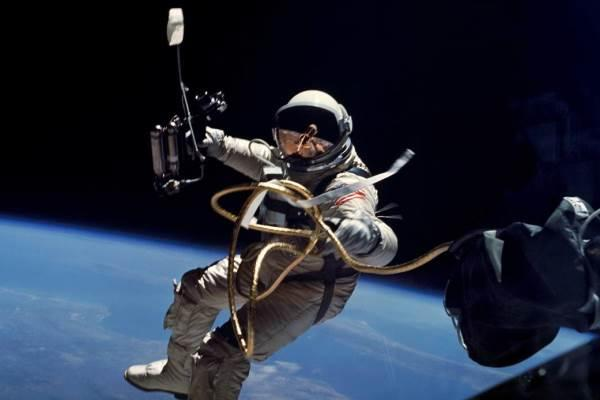 Astronaut Ed White became the first American to walk in outer space on June 3, 1965. NASA is currently searching for the next generation of space-walkers among Navy and Marine Corps personnel. (NASA)
