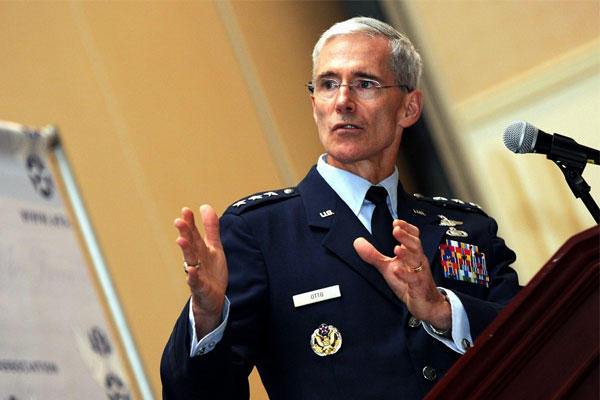 "Lt. Gen. Robert P. Otto, Air Force chief of staff for intelligence, surveillance and reconnaissance, said leadership strikes have only a short-term effect: ""We cannot kill our way out of this war."" (US Air Force/Aaron Stout)"