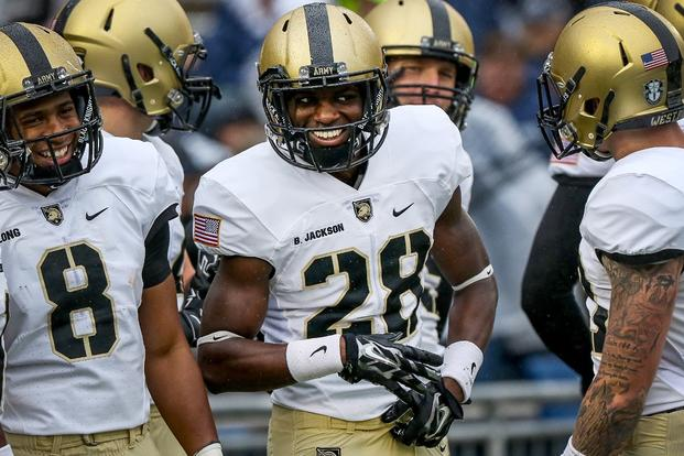 Army football sophomore cornerback Brandon Jackson, 20, died Sept. 11, 2016, in a car accident -- just hours after he started in a winning game. (Photo by Mark Carruthers/West Point)