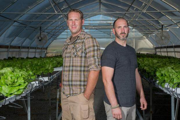 Morgan Boyd and his brother, Eric, at their 15-acre, family-owned farm, Pepper Creek Family Farms, in Arroyo Grande, California. (Photo by Susanna Frohman)