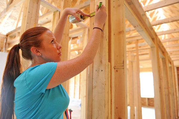 Working for a non-profit, such as Habitat for Humanity