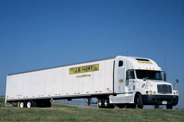 J.B. Hunt Transportation truck