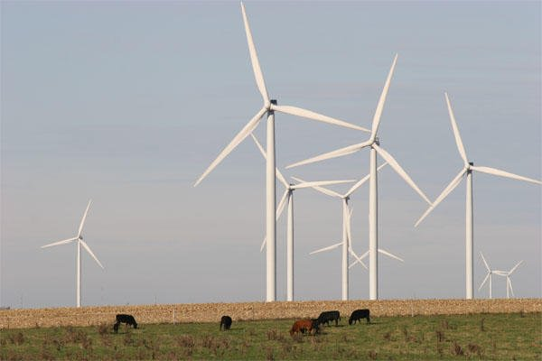 wind power in a field