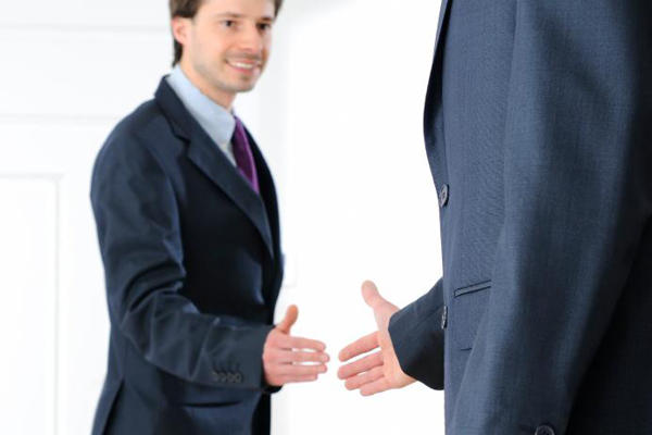 Interview handshake