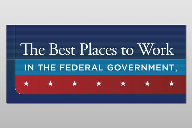The Best Places to Work in the Federal Government award badge