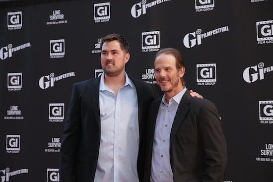 Marcus Luttrell and Peter Berg (Photo: Mark Kanwati)