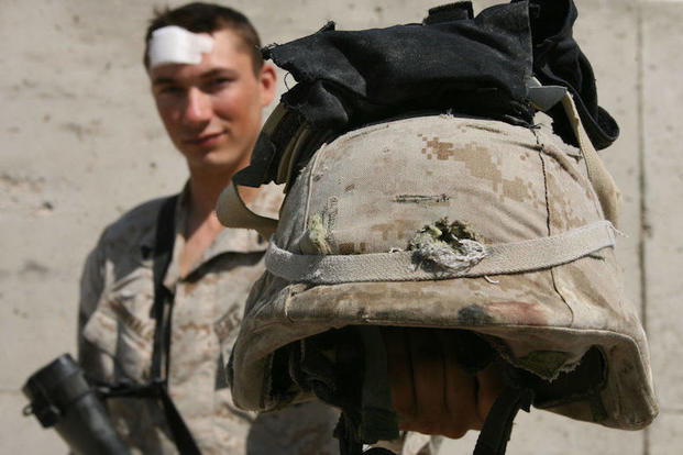 these 16 troops survived headshots thanks to their helmets